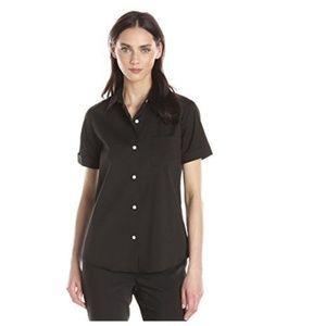 Theory Silk Uniform Button Down Stretch Top